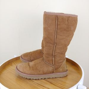 UGG Brown Classic High Rise Sheepskin Boots